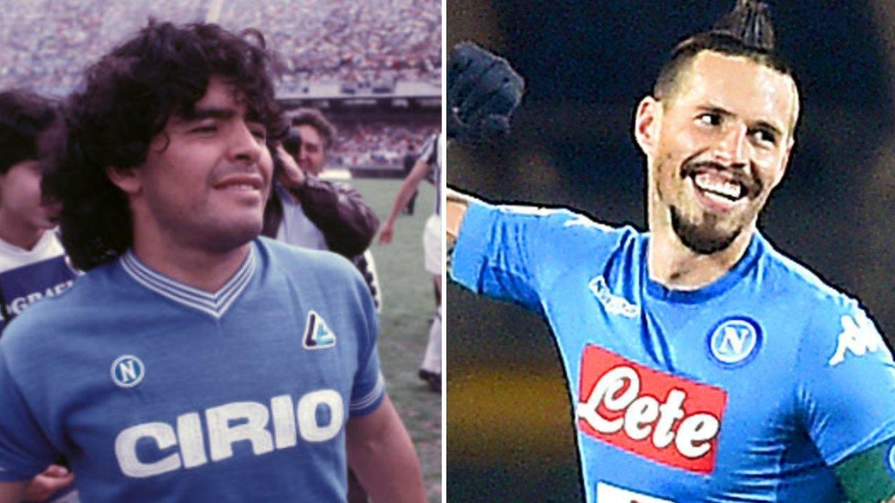 Hamsik equals Maradona record as Napoli go top