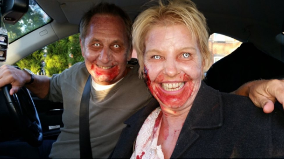 Zombies stopped by motorway police in Warrington