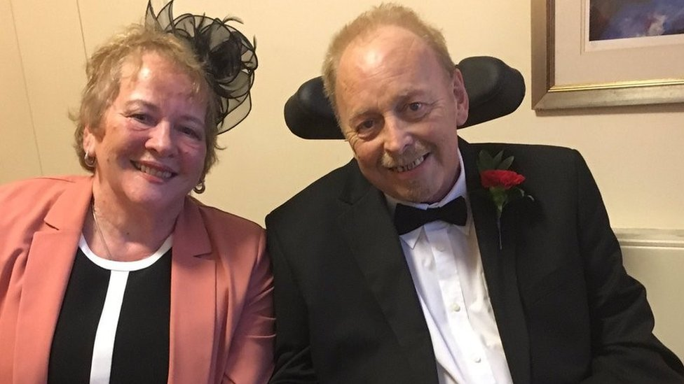 Cancer patient in 'whirl' wedding at Bristol hospice