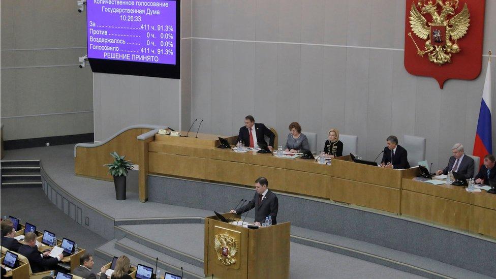 صدق مجلس النواب الروسي على القرار