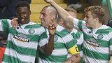 Dedryck Boyata (left) celebrates scoring for Celtic