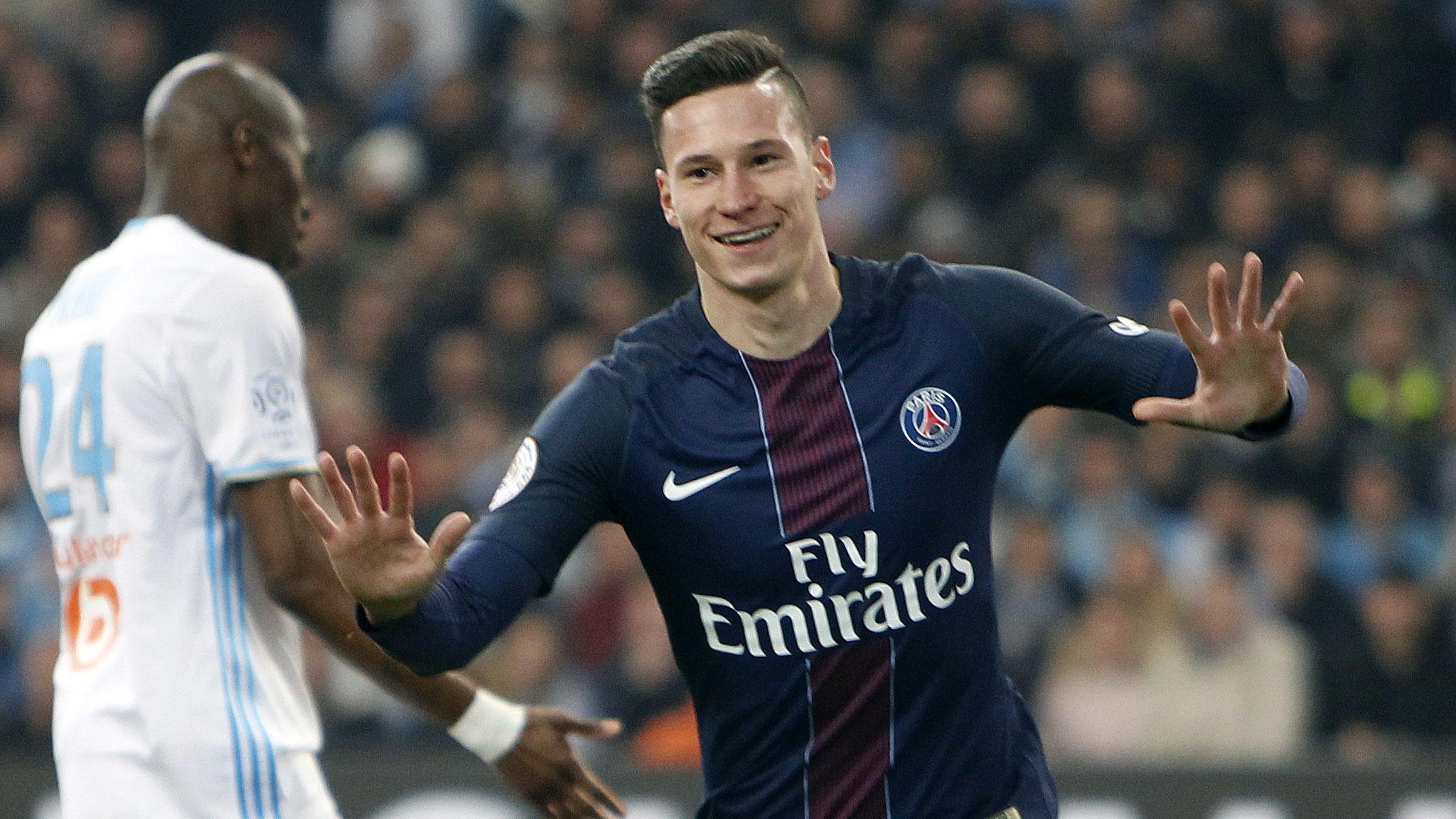 PSG thrash Marseille to move back into second