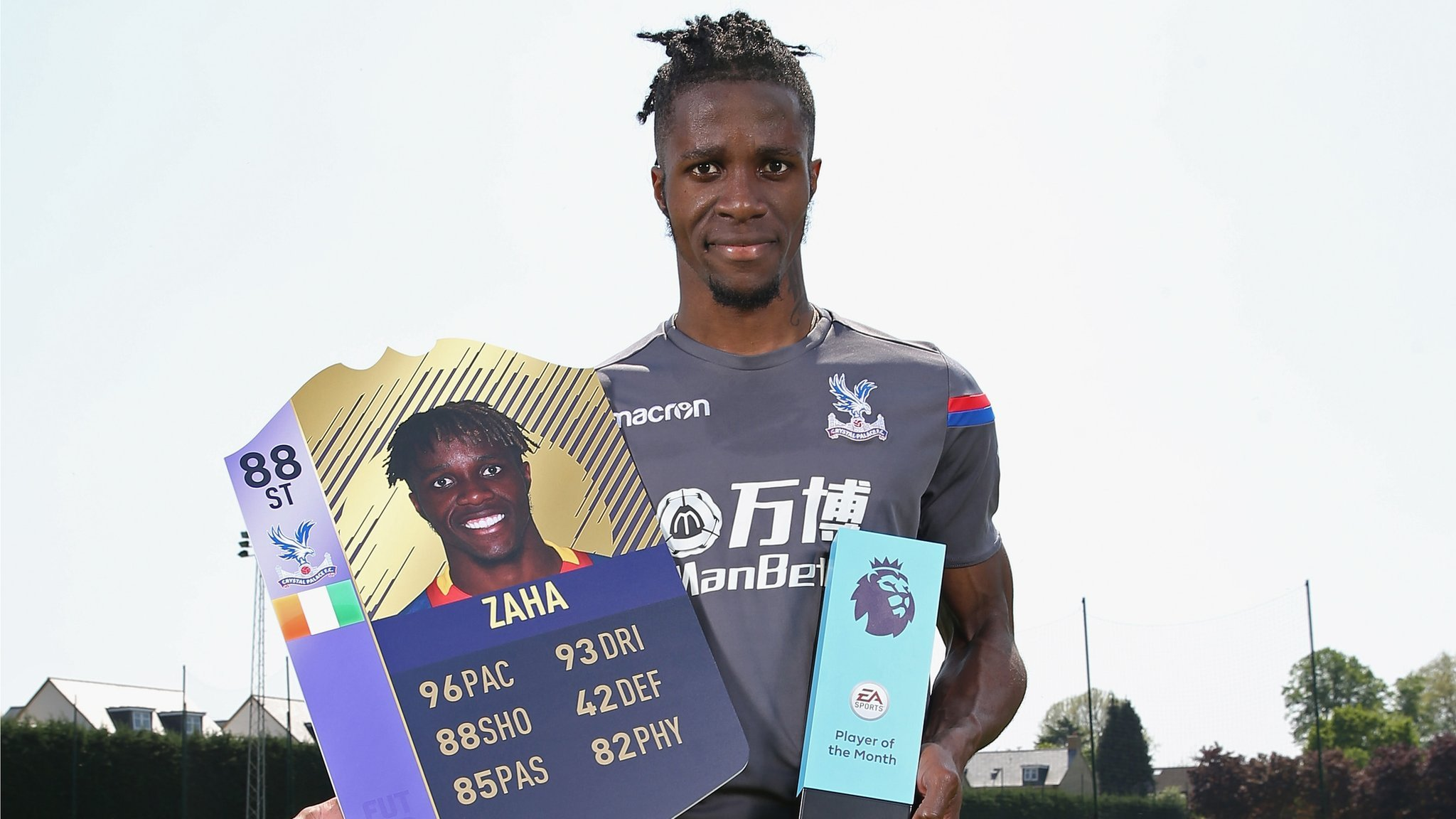 Zaha wins Premier League player of the month award