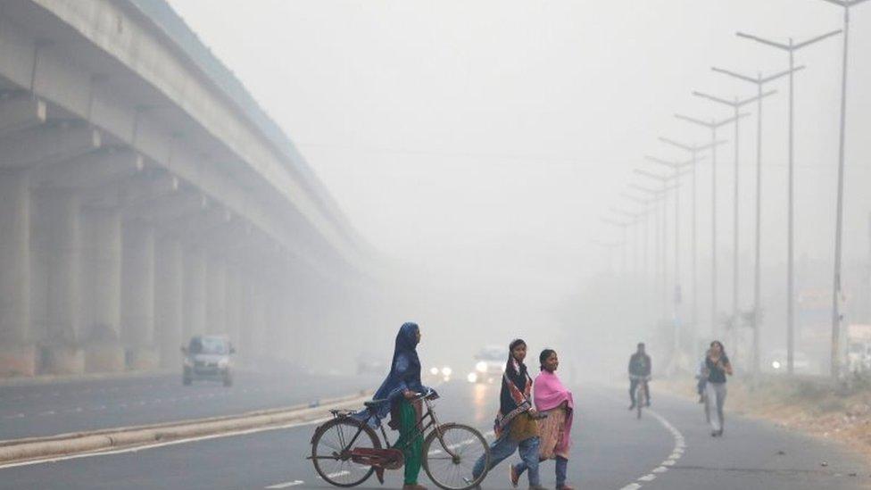 El aire de Delhi está sobrepasado de unas partículas diminutas que son altamente peligrosas para la salud