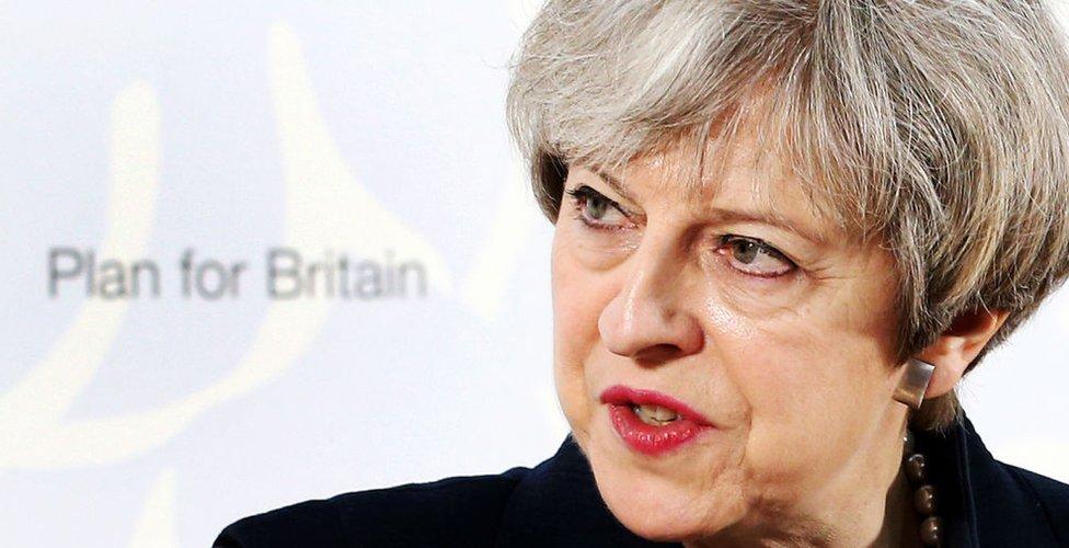 La primera ministra de Reino Unido, la conservadora Theresa May.