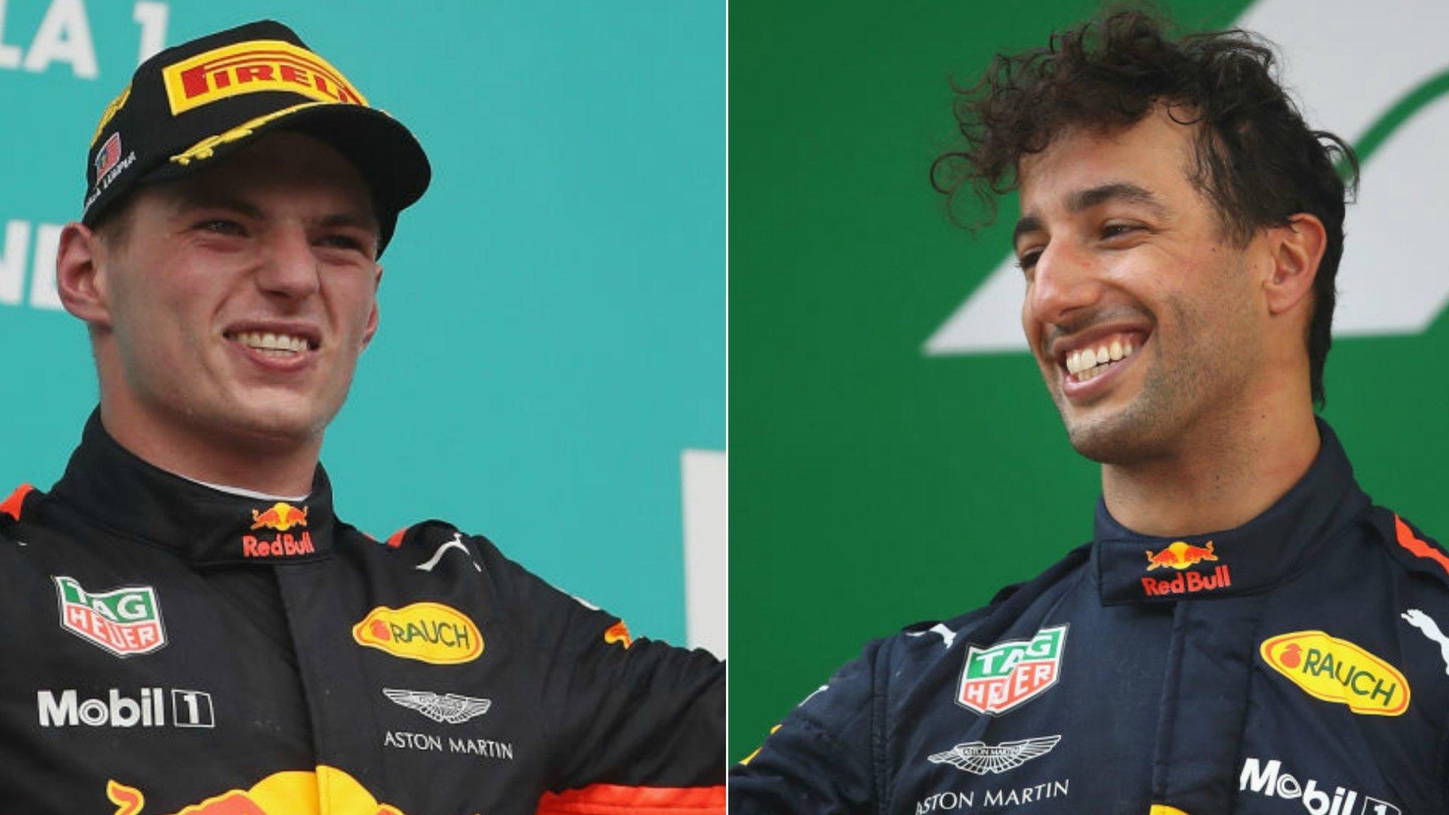 Daniel Ricciardo v Max Verstappen: Which Red Bull driver is best?