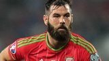 Joe Ledley in action for Wales