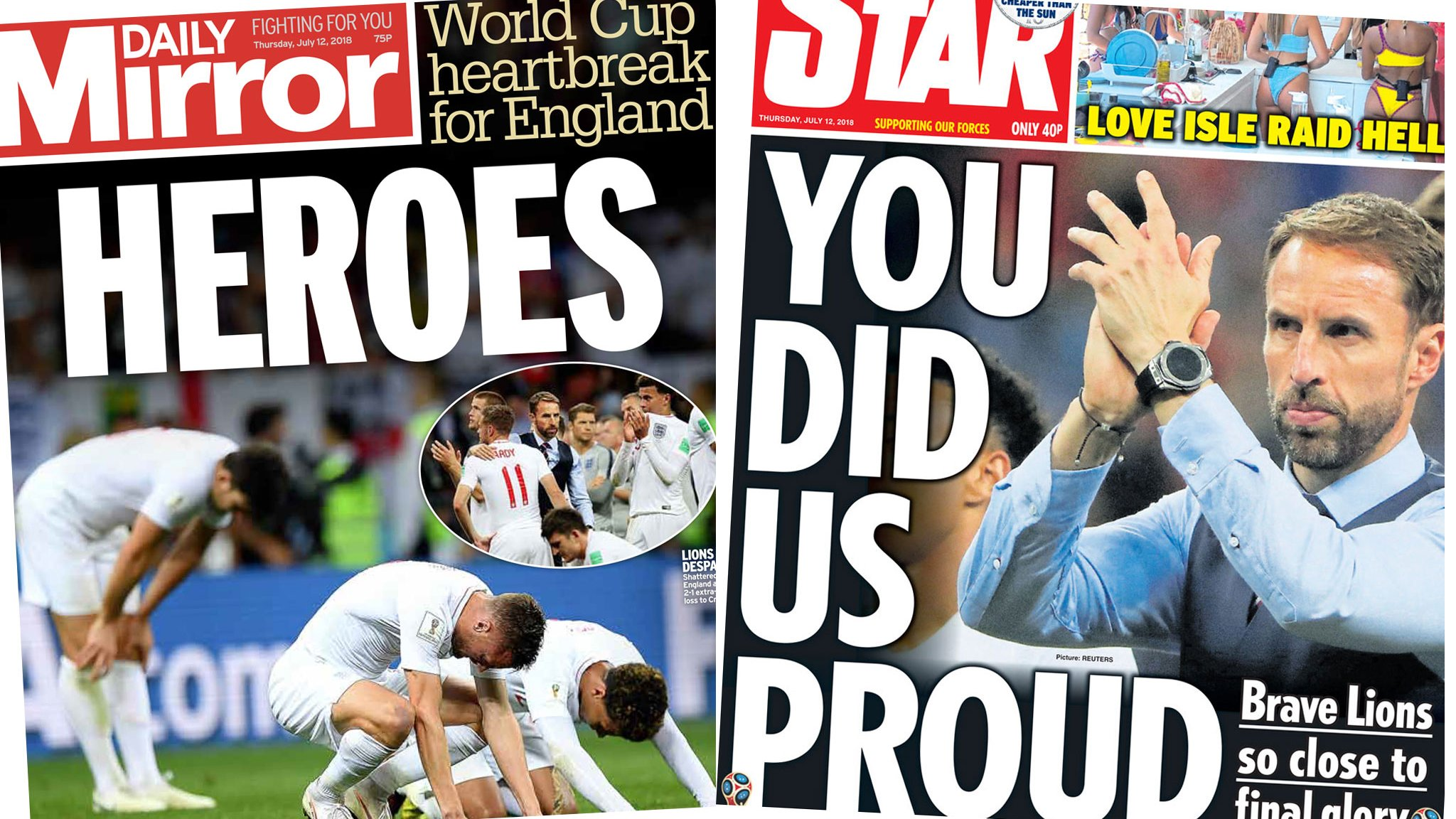 Truth or Not? Newspaper headlines: ''Lions did us proud' and Trump on way