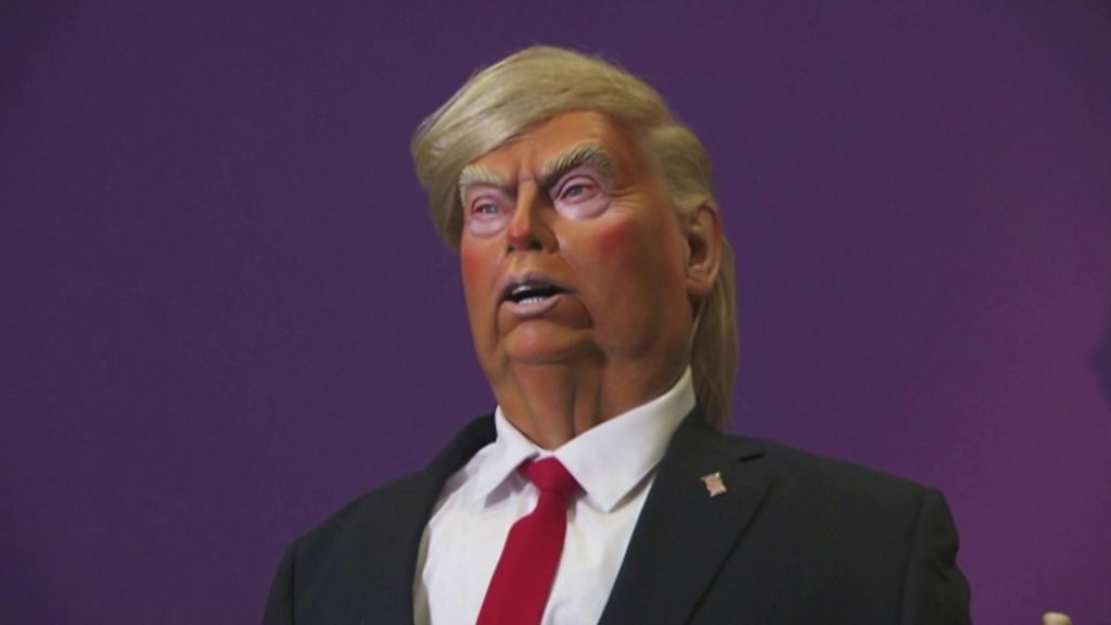 Donald Trump Spitting Image puppet unveiled