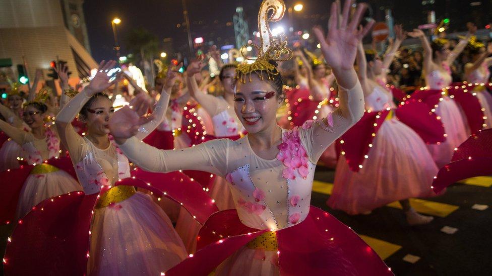 Bailarinas chinas