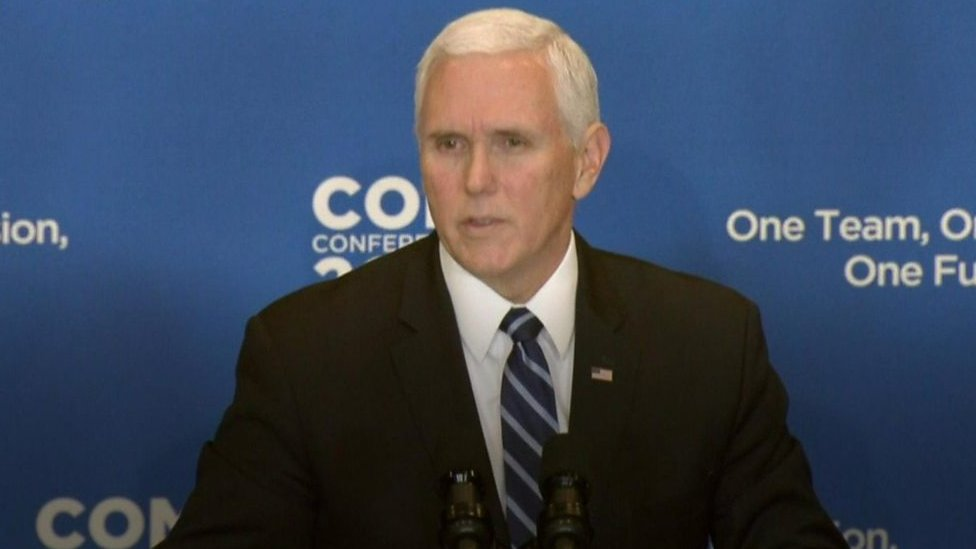 Vice-President Pence says IS defeated despite Syria attack