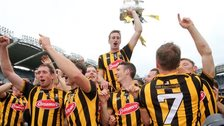 Kilkenny celebrate with the Liam McCarthy Cup
