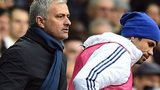 Chelsea manager Jose Mourinho and striker Diego Costa