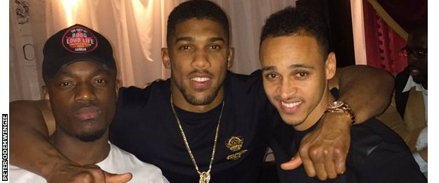 Anthony Joshua and Peter Odemwingie