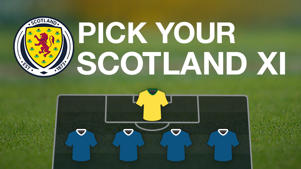 Scotland v Slovenia: Pick your starting XI