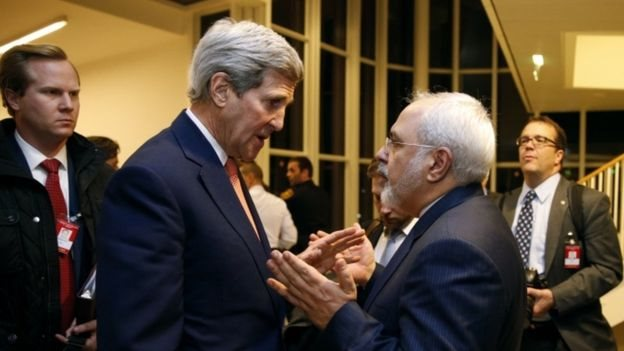 وزيرا الخارجية الإيراني والأمريكي