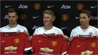 Manchester United unveil three new signings
