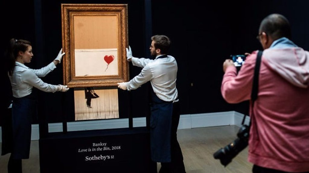 Ripping Banksy: Love is in the Bin