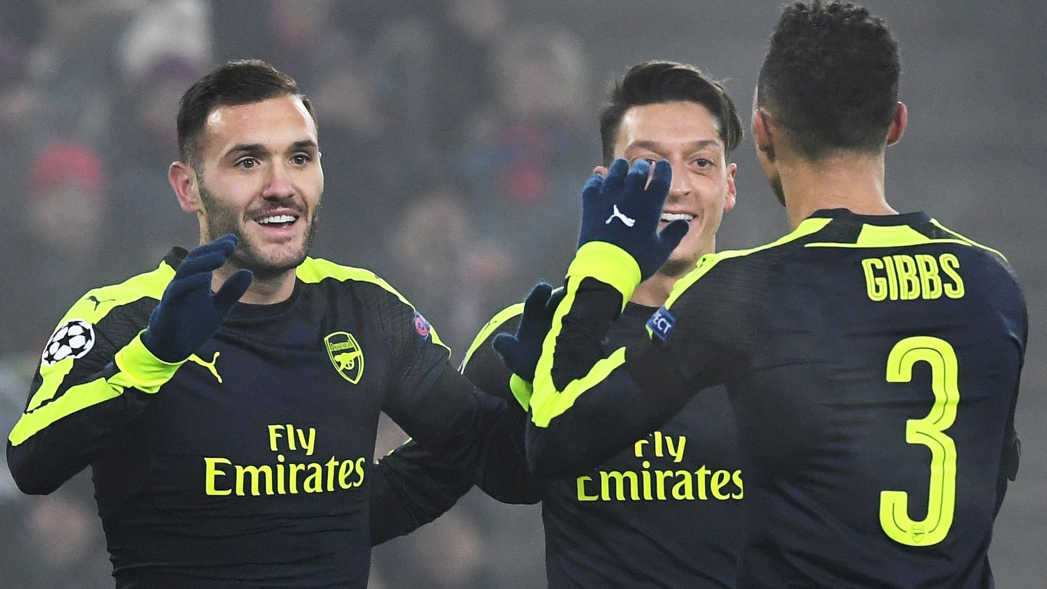 Arsenal thrash Basel and top Champions League group