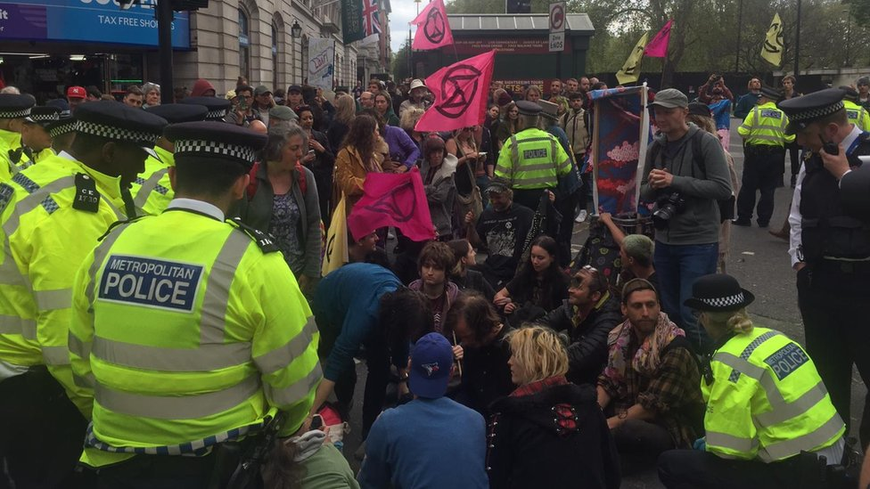 Extinction Rebellion: London climate protest 'ending Thursday'