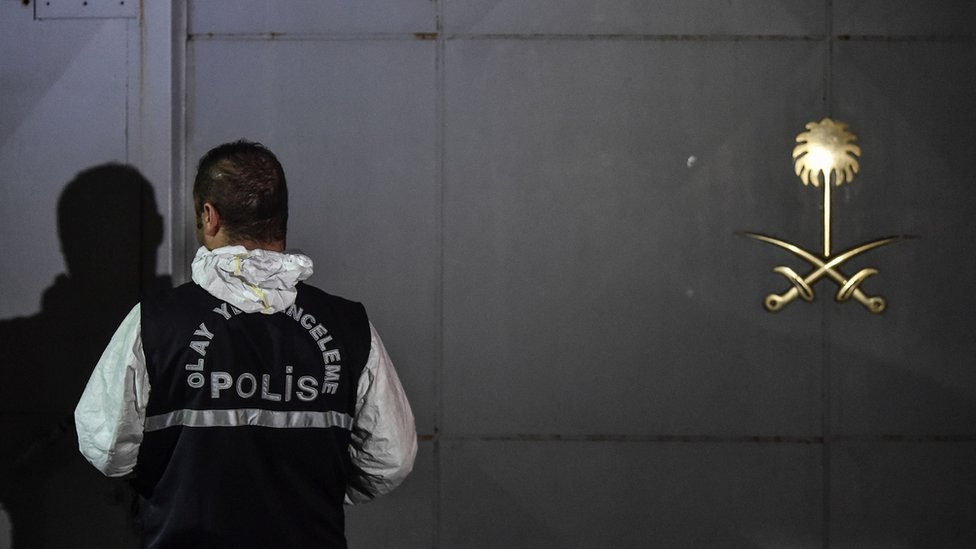 Jamal Khashoggi case: Turkish police 'search forest'