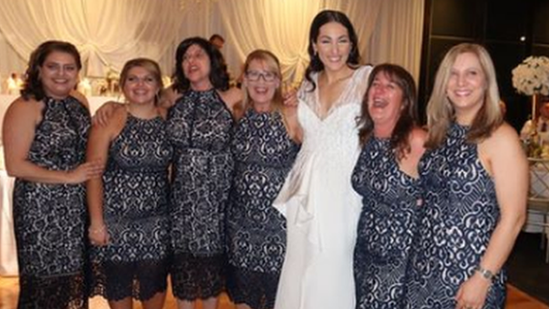 'We're not bridesmaids,' insist identically dressed guests