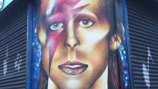 Bowie mural ridiculed on social media