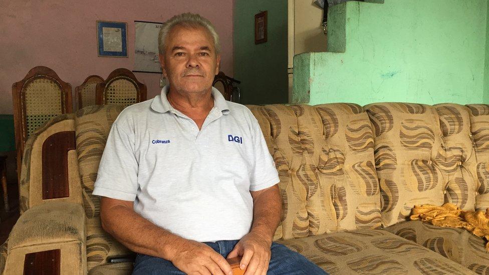 Pablo Aráuz en su casa de Somoto