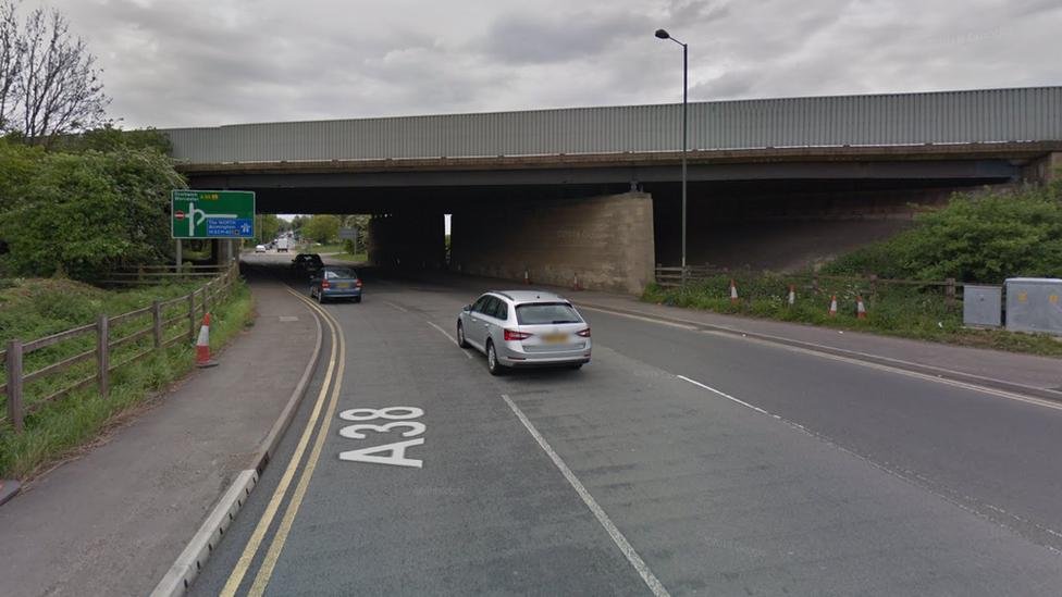 Murder arrest after man struck by lorry in Wychbold