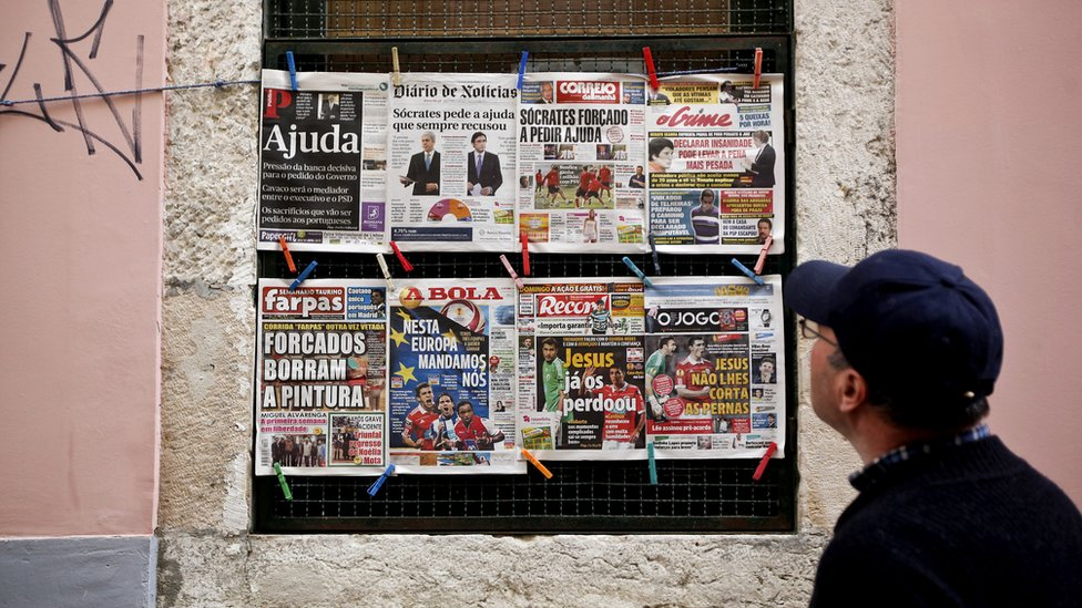 Portugese newspapers