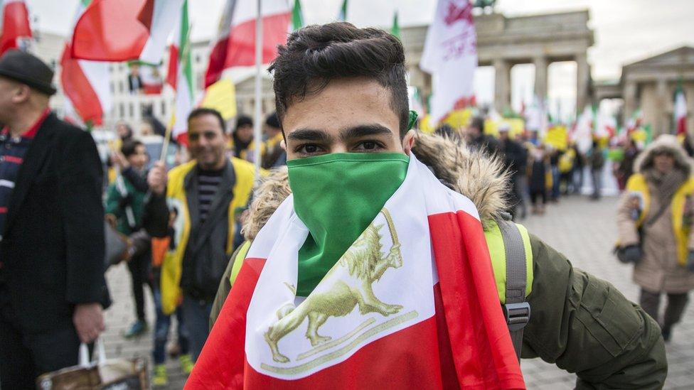 مظاهرة في برلين تضامنا مع المحتجين في إيران