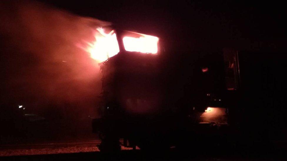 На Миколаївщині пасажирський потяг загорівся на ходу