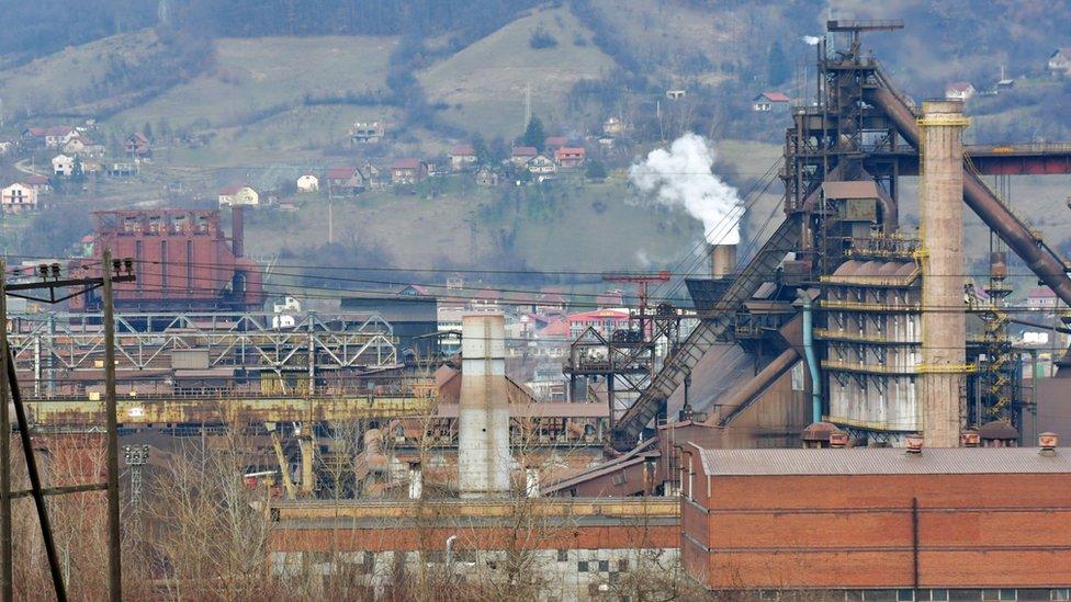 Fundición Zeljezara Zenica en Bosnia el 24 de enero de 2018.