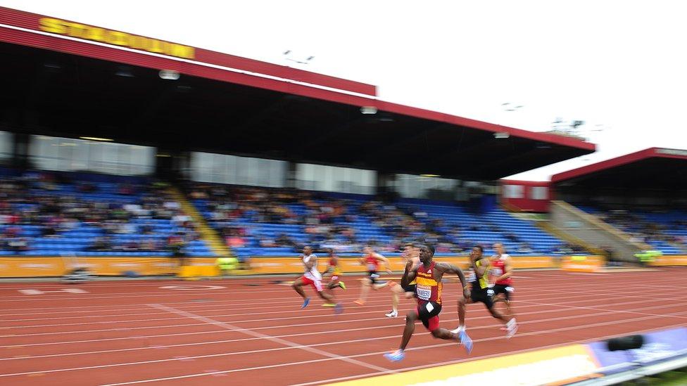 Athletics at the Alexander Stadium
