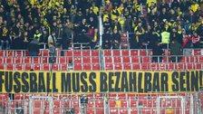 Dortmund fans and banner
