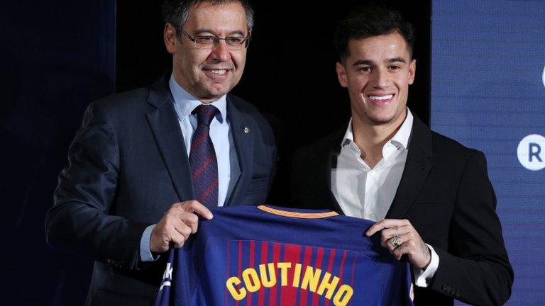 Philippe Coutinho: Barcelona unveil Brazil midfielder at Nou Camp