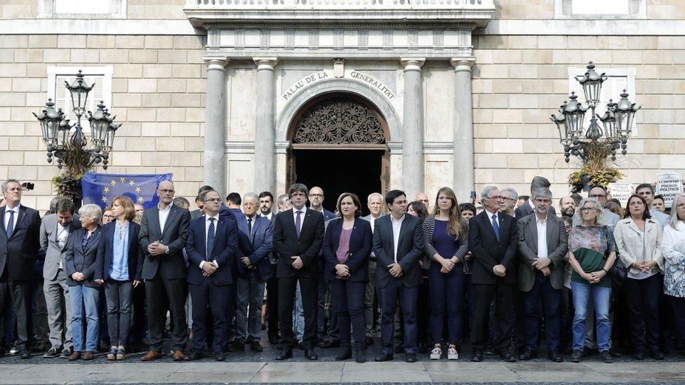 El Gobierno catalán en Barcelona.