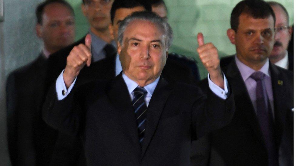 Presidente de Brasil, Michel Temer.