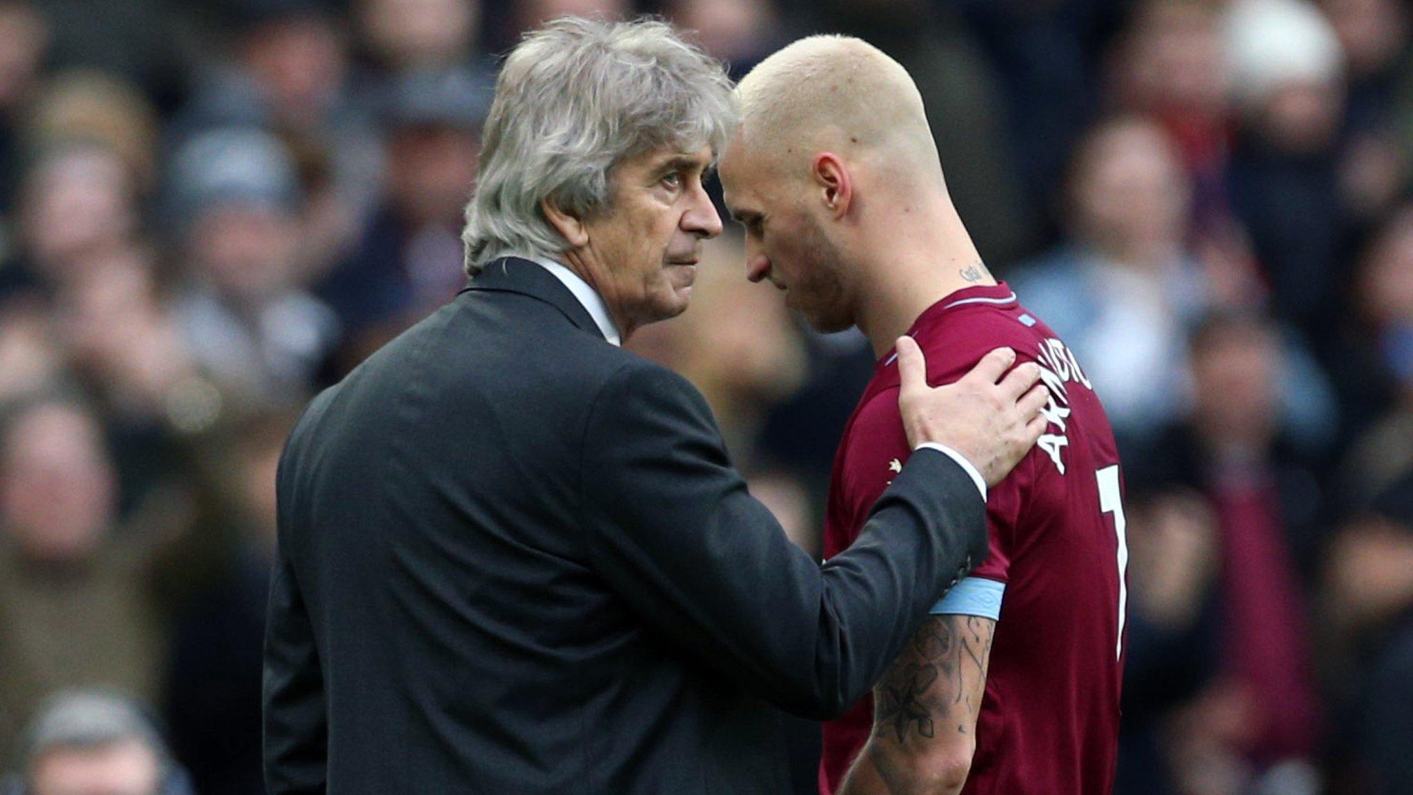 West Ham: Manager Manuel Pellegrini explains Marko Arnautovic absence