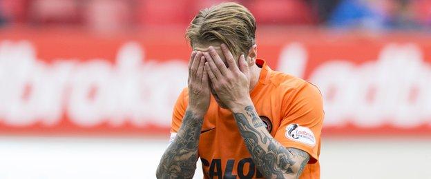 Dundee United forward Adam Taggart