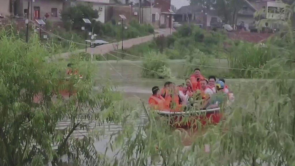 Trung Quốc Tỉnh An Huy Xả Lũ Sơ Tan Hang Ngan Dan Bbc News Tiếng Việt