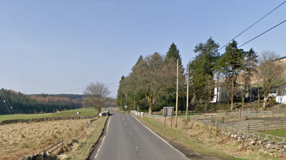 Biker dies after crashing into fence on A713 near Dalmellington