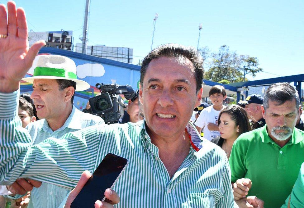 Antonio Alvarez Desanti, del tradicional Partido Liberación Nacional (PLN), en San José el 4 de febrero de 2018.