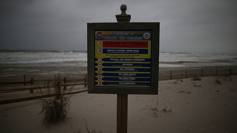 Aviso de alerta de corrientes resaca