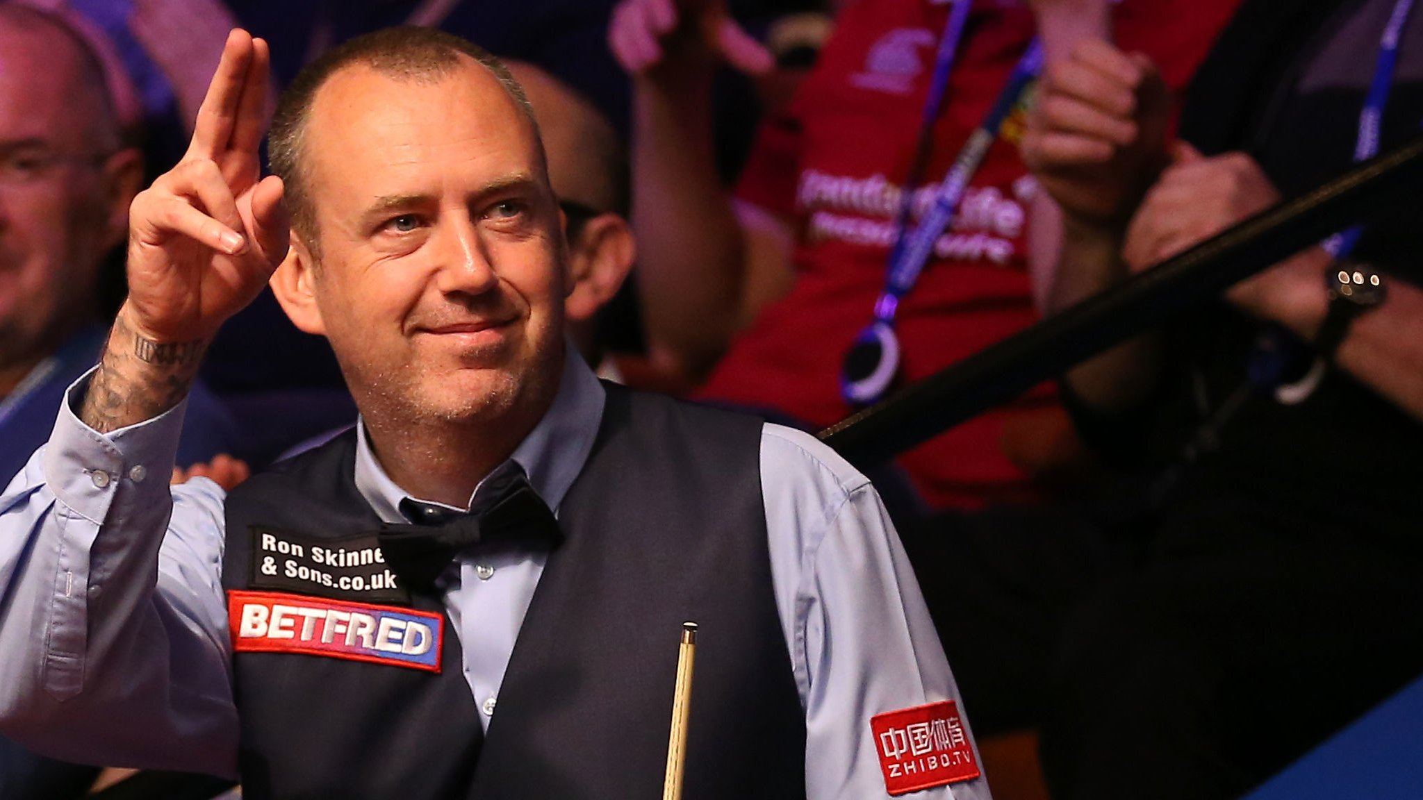 World Championship 2019: Champion Mark Williams into second round with 10-7 win v Martin Gould