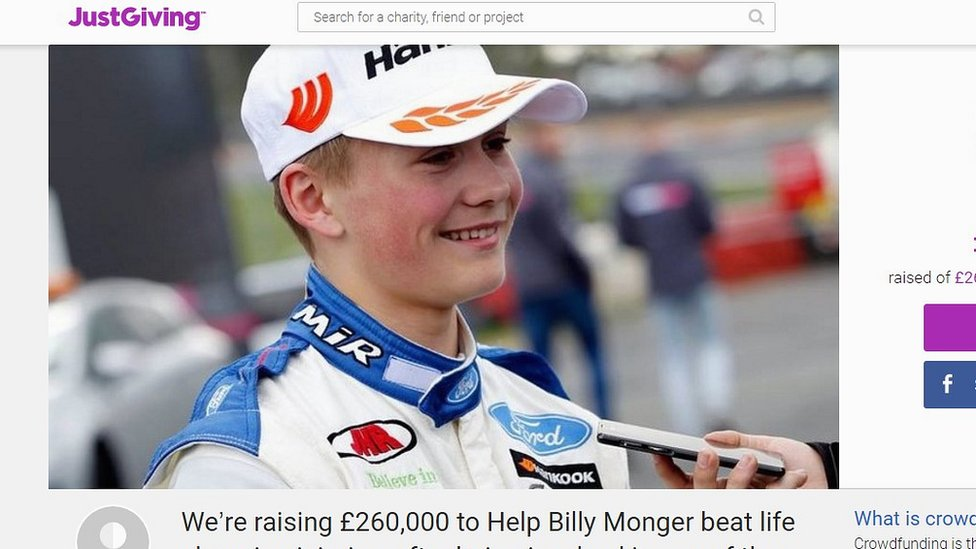 Formula 4 driver Monger, 17, has legs amputated