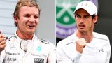 Nico Rosberg and Andy Murray