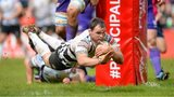 Rhys Shellard of Pontypridd scores