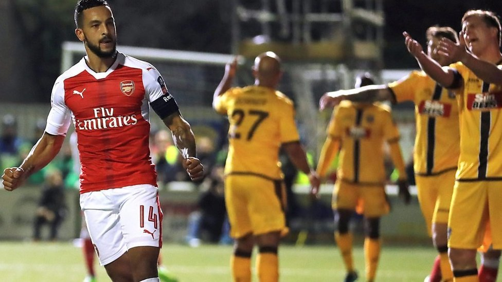 FA Cup: Sutton United 0-2 Arsenal highlights
