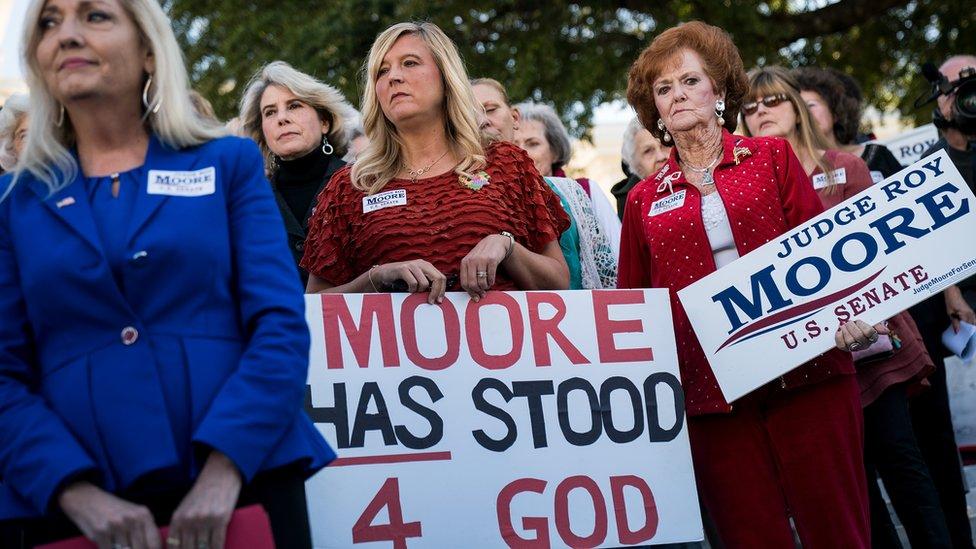 Simpatizantes de Roy Moore.